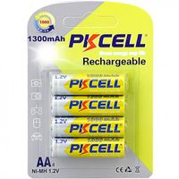 Baterii reincarcabile PkCell AA 1300 mAh 4 bucati
