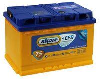 Аккумулятор АКОМ + EFB 6СТ- 75 Евро