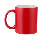 Кружка для сублимации хамелеон полу-глянцевая красная 11oz