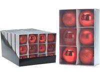 Набор шаров 6X80mm, красные, в коробке
