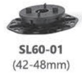 Podeste pentru plăci ceramice, baza cu sistem nivelare SL60-01 (42-48mm)