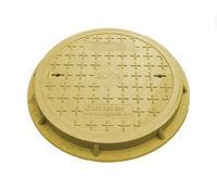 купить Крышка с рамой для колодца ф.600 х  30/ 2т желт. (650x45x16kg) в Кишинёве