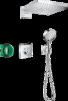 Raindance E300 Sistem de dus cu montare ascunsa si termostat ShowerSelect Square