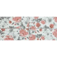 Ecoceramic Настенная плитка Bouquet Rojo 20x60см