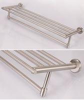 Полка-решетка для ванной 1-ярус, прямоугольная из нержавеющей стали