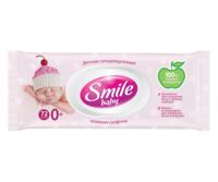 Детские влажные салфетки с клапаном Smile Baby Newborn, 72 шт.