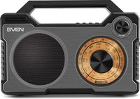 cumpără SVEN SRP-755 Black, Bluetooth ,FM/AM/SW-Radio, 8W RMS, 8-band radio receiver, built-in audio files player from USB-fash, microSD and SD card storage devices, built-in battery în Chișinău