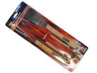 Инструменты для барбекю BBQ 3ед с дерев.ручкой, блистер