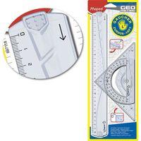 MAPED Набор линеек MAPED Geo Maxi левша, 3 штуки, блистер