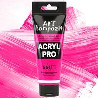 Акриловая флуоресцентная краска ART kompozit, 75 мл №554 Розовый флуоресцентный