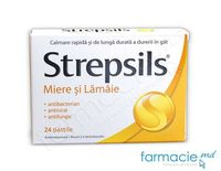 Strepsils® Miere si Lamiie pastile 1,2 mg + 0,6 mg N12x2