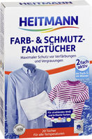 HEITMANN Салфетки для предотвращения случайной окраски тканей при машинной стирке, 20 шт.