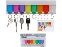 Набор брелков для ключей 8шт+держатель навесной