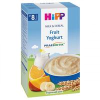 Hipp каша пшеничная молочная с пробиотиками, фрукты и йогурт, 8+мес. 250г