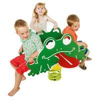 Качалка на пружине из HDPE 'frog quartet'