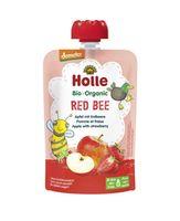 Piure de mere și căpșuni Holle Bio Organic Red Bee (8 luni+), 100g