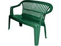Скамья садовая пластиковая 140X50X80cm, зеленая