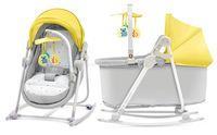 KinderKraft Колыбель-шезлонг 5-в-1 Unimo желтый