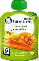 Gerber пюре яблоко, морковь и манго, 6+ мес, 90 гр