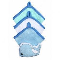 Набор из 3 полотенец и мочалки Babyono голубой