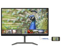 """27.0"""" Philips """"276E7QDAB"""", G.Black (IPS, 1920x1080, 5ms, 250cd, LED20M:1, HDMI, DVI,VGA) (27.0"""" IPS W-LED, 1920x1080 Full-HD, 0.311mm, 14 ms (5ms GTG), 250 cd/m², DCR 20 Mln:1 (1000:1), 16.7M Colors, 178°/178° @C/R>10, 30~83 KHz(H)/ 56~76Hz(V), HDMI-MHL + DVI-D + Analog D-Sub, Audio-In, Headphone-Out, Built-in Speakers: 3Wx2, External Power Adapter, Fixed Stand (Tilt -5/+20°), VESA Mount 100x100, Flicker-free, Elegant slim design, Black-Glossy)"""