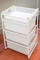 cumpără Set compus din 2 rame cu coșuri metalice din plasa marunta, 470x535x450 mm, alb în Chișinău