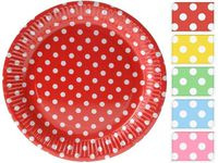 купить Набор тарелок в горошек 10шт, D18cm, 5цветов в Кишинёве