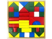 Набор деревянных кубиков, 48 штук, 23x23x2.5 см