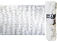 Covoras pentru baie 40X60cm Chenille alb, microfibra