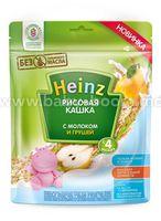 Heinz Рисовая кашка 250г с молоком и грушей (с 4 месяцев)