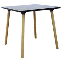 купить Стол с деревянной поверхностью и деревянными ножками, 800x800x750 мм, серый в Кишинёве
