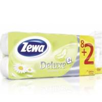 Zewa Deluxe camomile туалетная бумага 3-х слойная, 10 рулонов