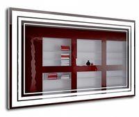 J-Mirror Sandra 80x50 Aluminium Frame