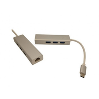 Ethernet Adapter USB3.1 TYPE C to RJ45 + 3 x USB2.0, APC-631029