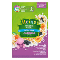 Heinz Лакомая каша рисовая молочная курага, слива,5+мес.170 г