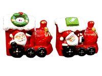 """Сувенир с подсветкой """"Дед Мороз на поезде"""""""