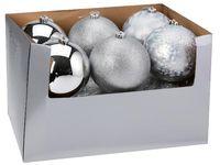 купить Шар елочный 150mm матовый, глиттер, глянцев, серебряный в Кишинёве