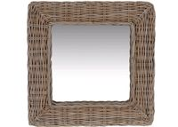 купить Зеркало квадратное 49X49X5cm, ротанг в Кишинёве