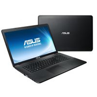 """NB ASUS 17.3"""" X751SA Black (Celeron N3050 4Gb 500Gb) 17.3"""" HD+ (1600x900) Glare, Intel Celeron N3050 (2x Core, 1.6GHz - 2.16GHz, 2Mb), 4Gb (1x 4Gb) PC3-12800, 500Gb 5400rpm, Intel HD Graphics, HDMI, DVD-RW, Gbit Ethernet, 802.11n, Bluetooth 4.0, 1x USB 3.0, 2x USB 2.0, Card Reader, HD Webcam, DOS, 4-cell 37 WHrs Li-Ion Battery, 2.8kg, Black"""