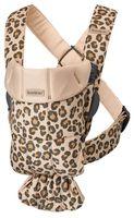 Анатомический рюкзак-кенгуру BabyBjorn Mini Beige/Leopard, хлопок