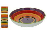 Салатница керамическая 610ml,22.5X5.5cm, разноцв полосы