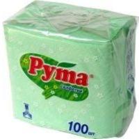 Ruta салфетки бумажные зеленые, 100 шт