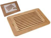 Доска для нарезки хлеба с решеткой 38X24X2cm, бамбук