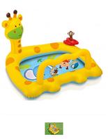 Intex детский надувной бассейн giraffe,112х91х72 см