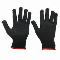 купить Перчатки полиэстеровые черные с белыми точками ПВХ 313509 в Кишинёве