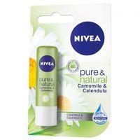 Balsam de buze Nivea Lip Care Pure & Natural Chamomile&Calendula 4,8 g