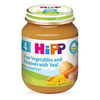 Hipp пюре нежные овощи с картофелем и телятиной, 4+мес. 125г
