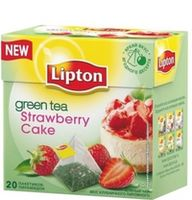 Lipton Nirvana зеленый чай Strawberry Cake