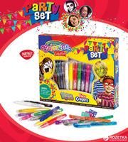 Праздничный набор, мелки для лица и тату-ручки Colorino