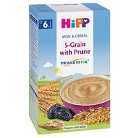 Hipp каша 5 злаков молочная с черносливом с прeбиотиками,  6+мес. 250г